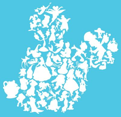 Mouseology: Character Silhouette Shirt Design would make a sweet disney tattoo =]