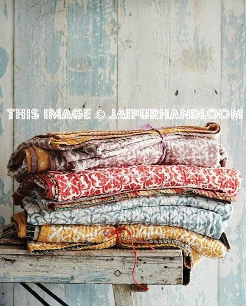 3 pc wholesale Kantha Quilt vintage Indian Quilt Reversible Kantha Bedspread twin  Kantha Bed Cover