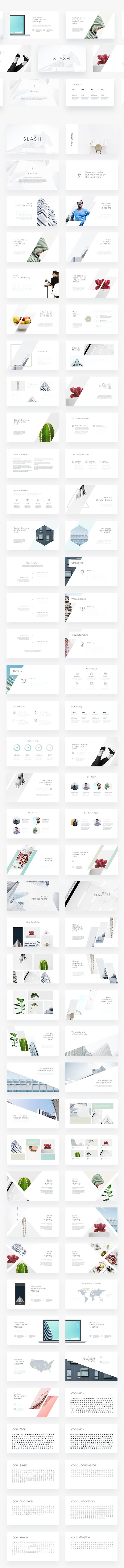 Slash - Minimal Powerpoint Template - Creative PowerPoint Templates