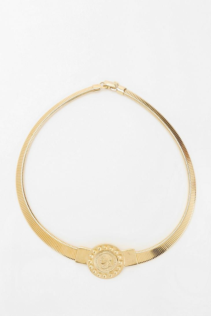 Urban Renewal Gold Coin Necklace