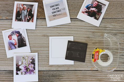 "DIY ""Polaroid"" Picture Banner"