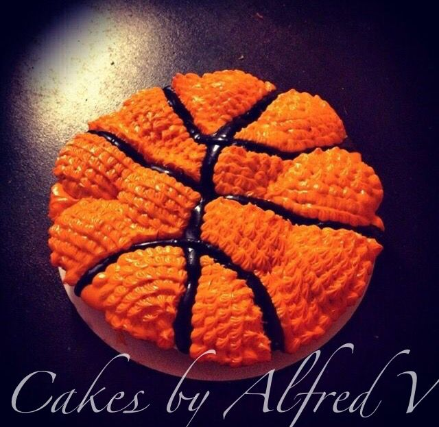 Basketball Cupcake Cake Sports Cakes Pinterest