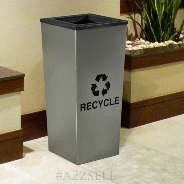 High-End Recycling Containers For Executive Offices, VIP Meeting Rooms, Country Clubs And Homes.  The Metro Collection is a line of very elegant high-end recycling containers and is available in single, two or three stream units.  Buy this decor-conscious recycling bins @ http://a2zsell.com - On Sale Now.