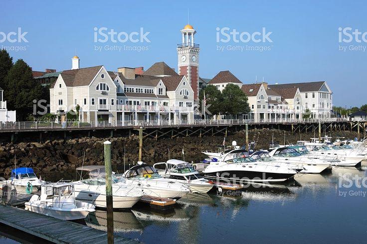 Marina Bay in Quincy, Massachusetts royalty-free stock photo