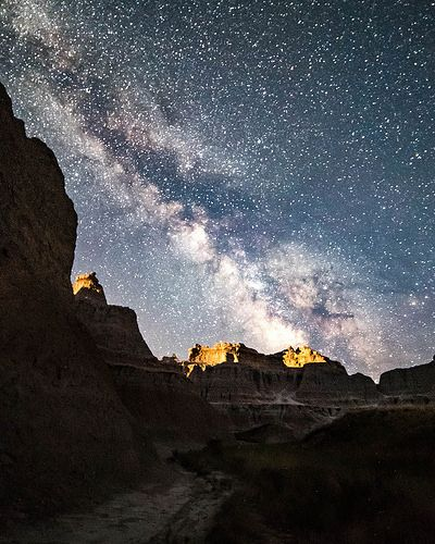 Milky Way over the Badlands. Photographer Dan Price
