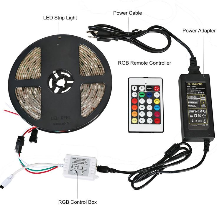Mejores 8 imgenes de led light strip ideas en pinterest luces 1999 5050 150 smd muticolor change and 24 key remote controller and 5a usa power supply aloadofball Images