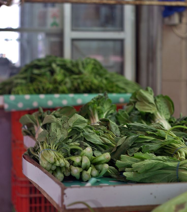 Asian greens at the Carmel market #market #carmelmarket