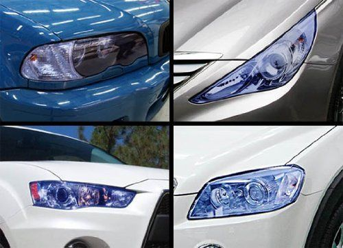 Amazon.com: 12 by 48 inches Self Adhesive 20% Dark Blue Headlight, Tail Lights, Fog Lights Tint Vinyl Film: Automotive