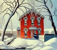 The Red House / Lawren S. Harris, Canadian (1885-1979) / lichtval !
