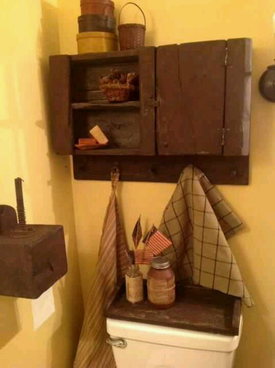 268 Best Prim Bath Ideas Images On Pinterest Bathroom Ideas Country Bathrooms And Primitive