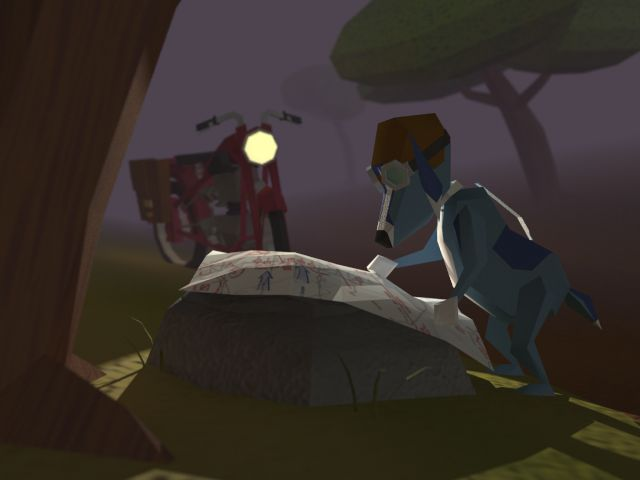 Messenger Dog Lost. Low Poly 3D Illustration by Ed Beals.
