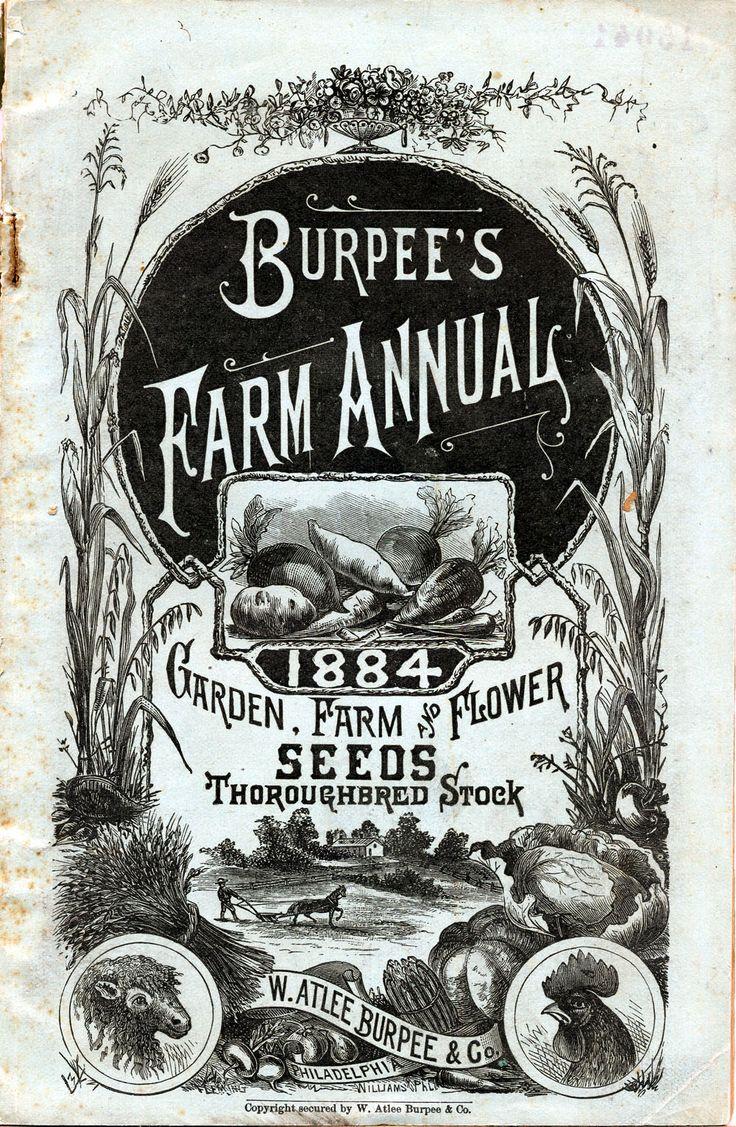 Burpees Farm Annual Seed Catalog Cover