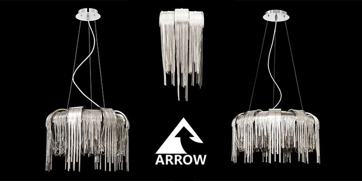 Get these stunning centre pieces using nickel chains as a waterfall effect. Made my us, Arrow Electrical!