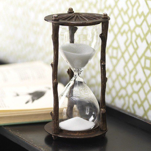 Iron Hourglass Sand Timer
