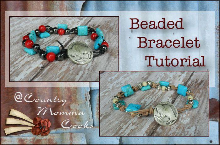 Western beaded Bracelet Tutorial  @ CountryMommaCooks