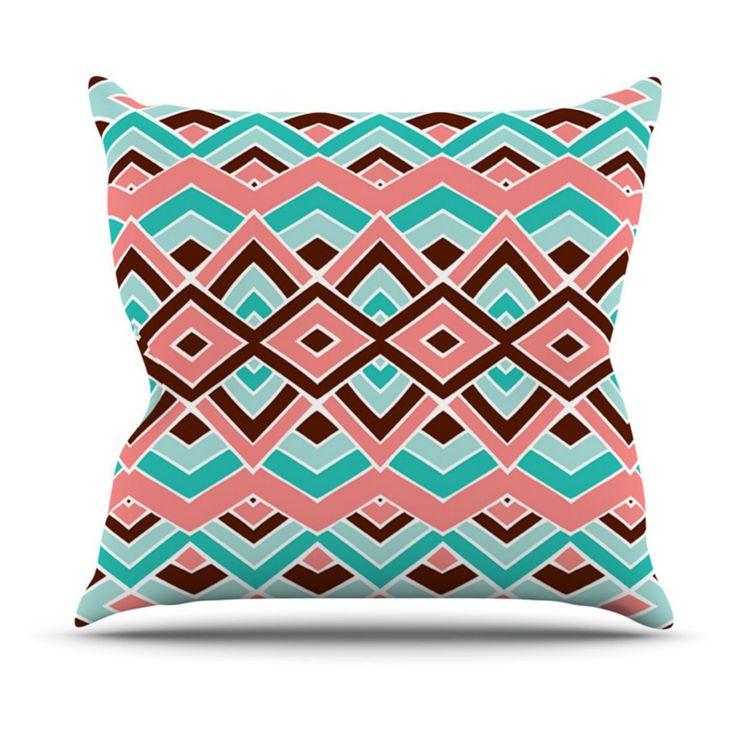 Kess InHouse Pom Graphic Design Eclectic Indoor/Outdoor Throw Pillow - PG1051AOP02