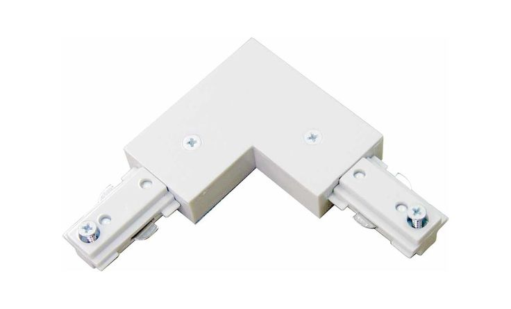 Volume Lighting V2713 Track Light L Connector White Indoor Lighting Track Lighting Accessories