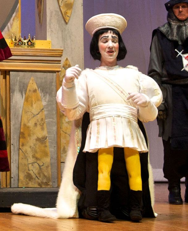 Lord Farquaad Wedding costume for Bank Street Players' production of Shrek. Credit to Paulette Morgan for the legs!