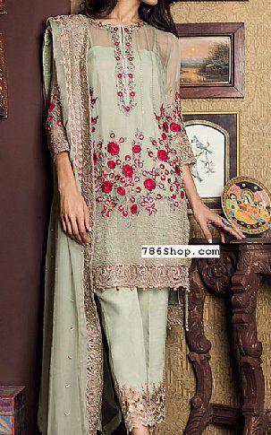 b9af3f70d5 Pale Green Chiffon Suit | Buy Imrozia Pakistani Dresses and Clothing online  in USA, UK