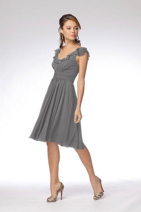 gray bridesmaid dress by delores