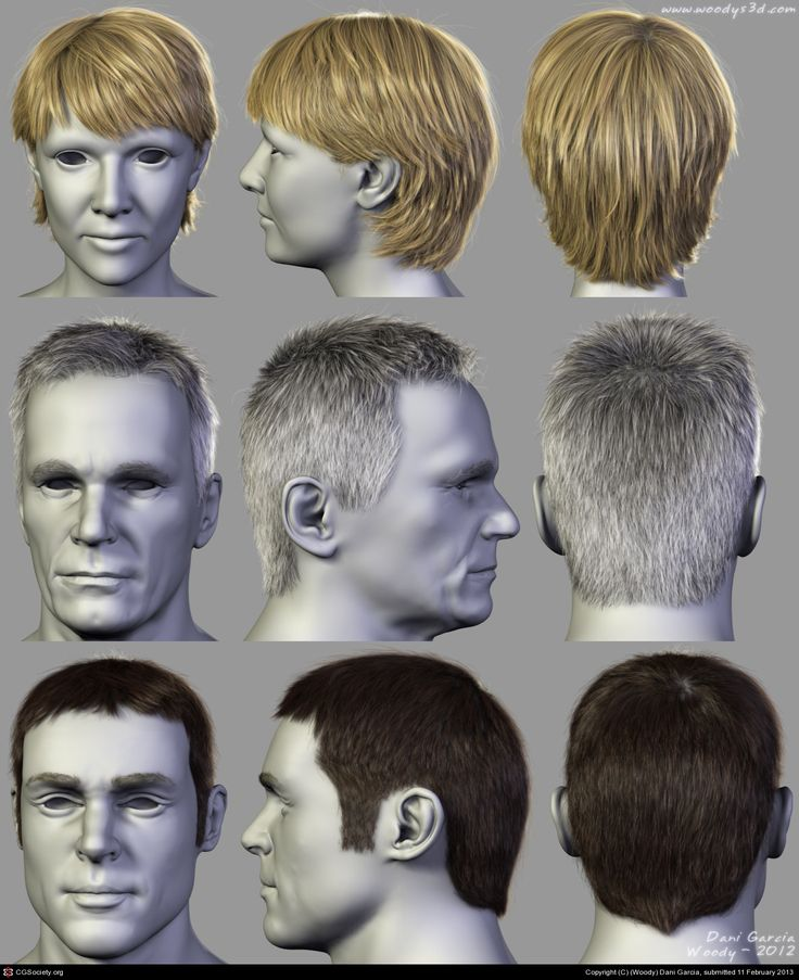 2012 Hairstyles 06 by (Woody) Dani Garcia | 3D | CGSociety