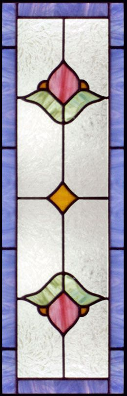 Stained And Leaded Glass Victorian Style Sidelight Window Custom Design