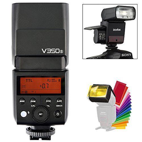Godox V350-S TTL Flash Speedlite with LCD Display for Sony A7RIII A7RII A7R A58 A99 ILCE6000L A77II RX10 A9