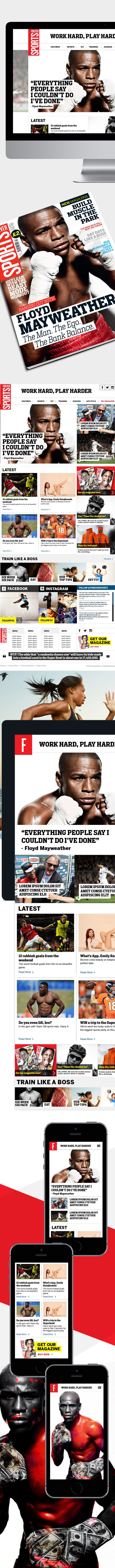 Forever Sports responsive site design