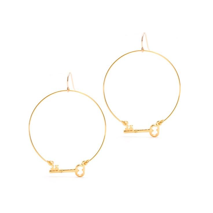 I love the Gorjana Key Charm Hoop Earrings from LittleBlackBag