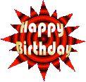 Animated gifs happy birthday, cake, balloons, clowns