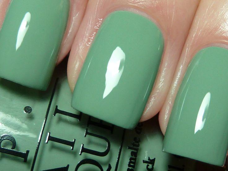 : Nails Colors, Colors Nails, Spring Summer, Opi Nails, Fashion Polish, Nails Polish, Shades Of Green, Green Nails, Holland Collection