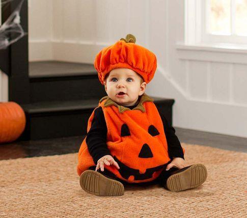 Baby Pumpkin Costume | Pottery Barn Kids #kids #Halloween #costumes