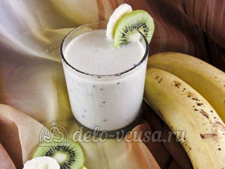 Овсяный смузи с бананом и киви #смузи #бананы #киви #напиток #рецепты #деловкуса #готовимсделовкуса