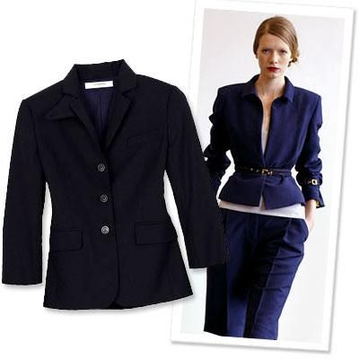 Chic Interview Style: 5 Ways to Impress for Less - Look For Modern Details in a Suit from #InStyle