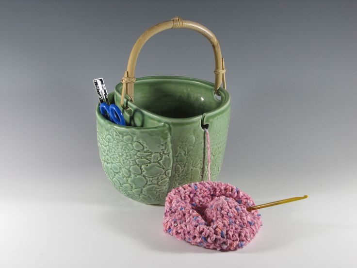 I don't know that I'd make one, but, of all the designs I've seen, I like this best. Love the tool pocket and the handle. Knitting Bowls Page