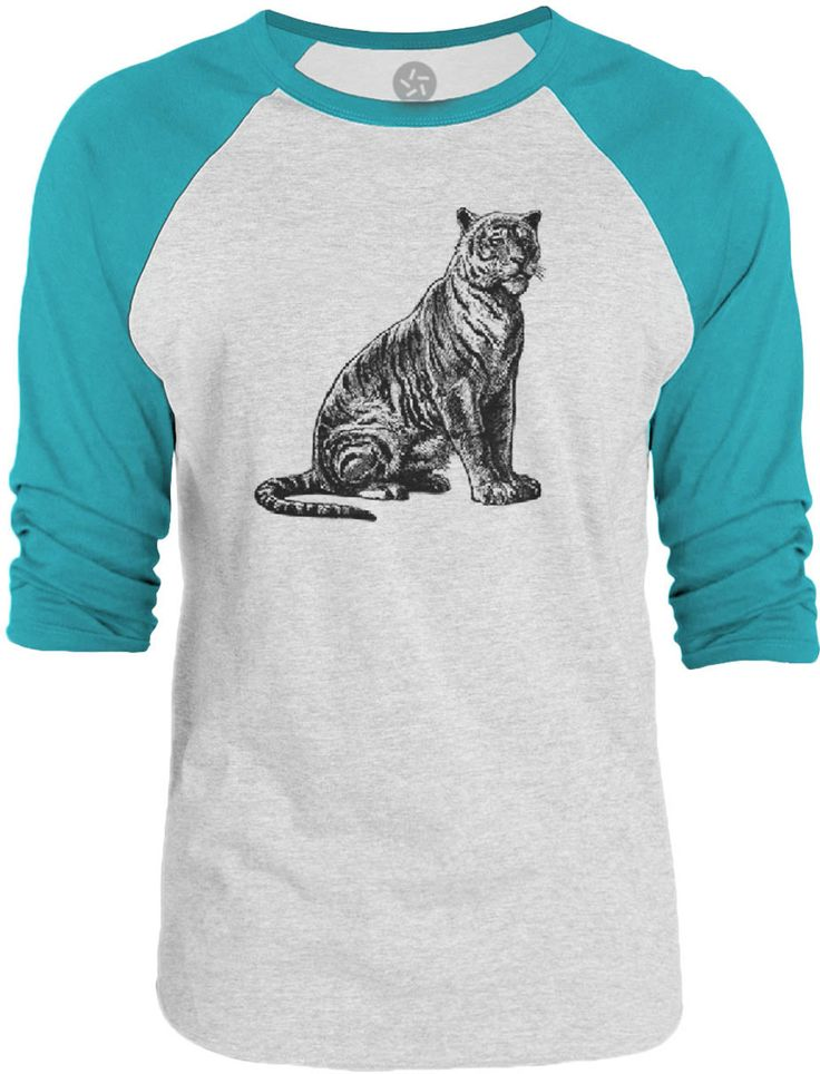 Big texas vintage tiger black 3 4 sleeve raglan baseball for Texas baseball t shirt