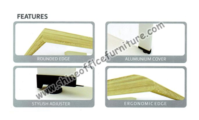 Fitur setiap meja Powell di desain dengan model yang modern, elegan namun simple.