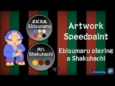 Artwork Speedpaint - Ebisumaru playing a Shakuhachi - YouTube