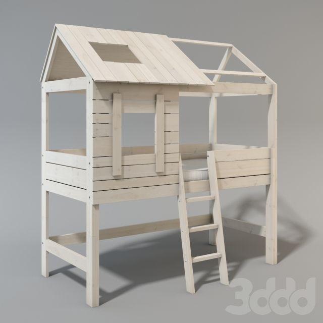 Детские кроватки в виде домиков