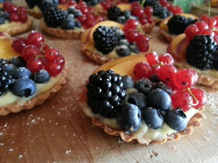 mini crostatine con frutta fresca! #deliziose