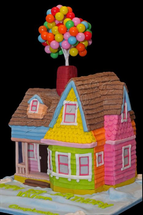 Disney Up house cake!  >> amazing!