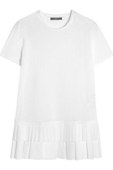 ALEXANDER MCQUEEN Ruffled Cotton-Jersey T-Shirt. #alexandermcqueen #cloth #tops