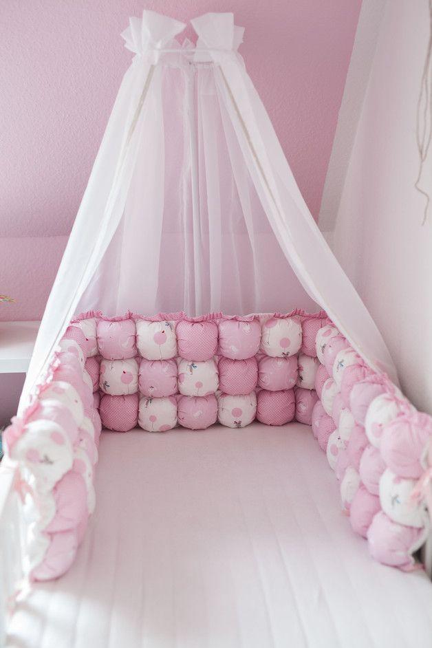 Nests Pom Pom Patchwork 3pcs Bed Size 140x70 Babyzimmer Dekor