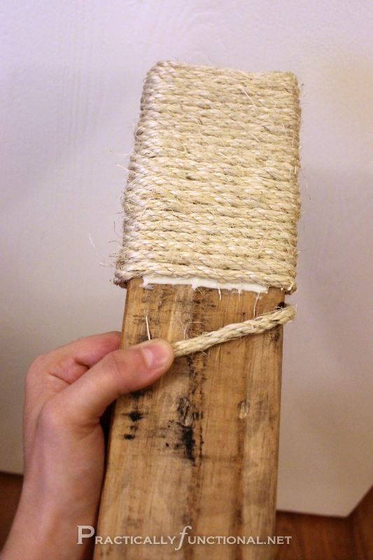 DIY Sisal Scratching Post {Caturday #6} - Practically Functional