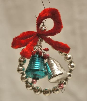 Cute vintage glass bell ornament: Kid