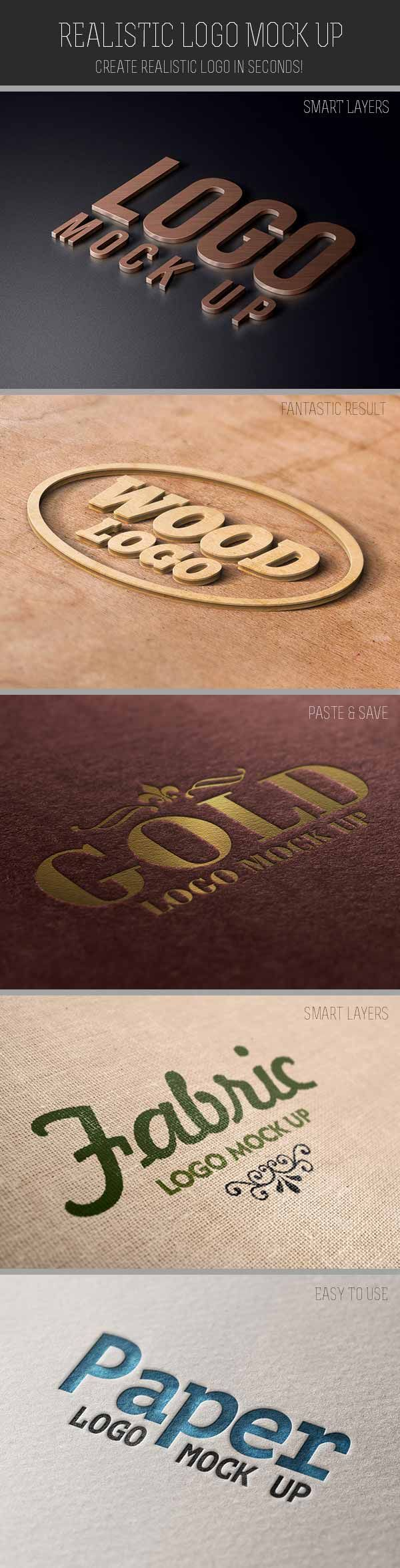 Realistic Logo Mock Up - Design Resources, Inspirations and Freebies | Designrshub Gallery