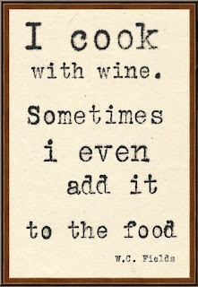 I cook with wine. Sometimes I even add it to the food