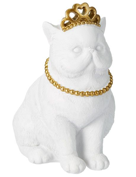 The regal Cat with Crown will be fun addition to your home decor, and forms part of the Tilly@home Eclipse range.