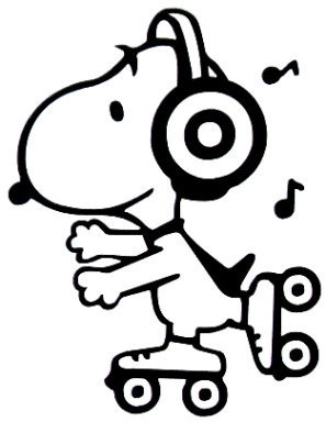 3 inch Disco Snoopy Vinyl Decal Sticker by TheVinylSweatshop, $2.25