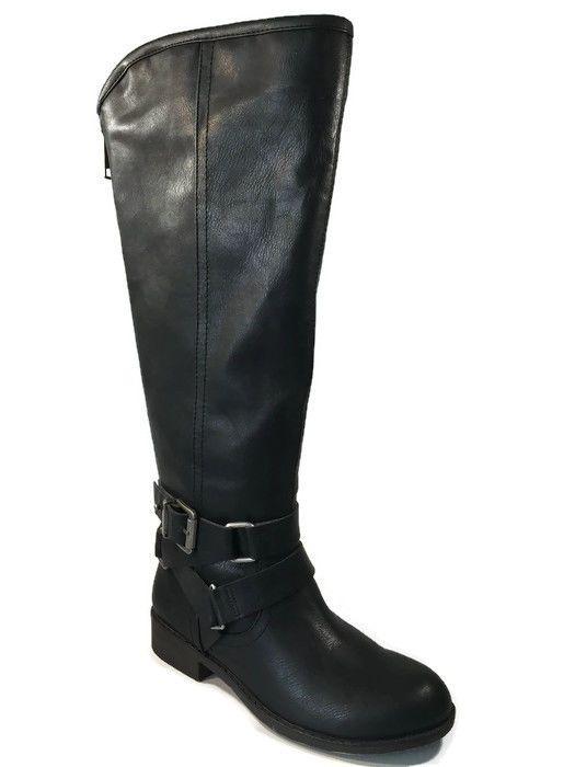 Madden Girl by Steve Madden Black Tall Women Winter CORPOREL Boots SIZE 6.5 | eBay